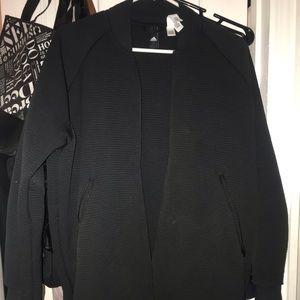 Adidas long zip up jacket